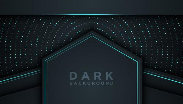 Donkere abstracte achtergrond met overlappende lagen
