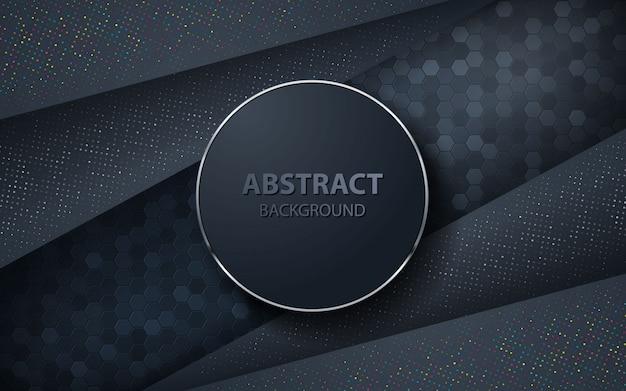 Donkere abstracte achtergrond met overlappingslagen