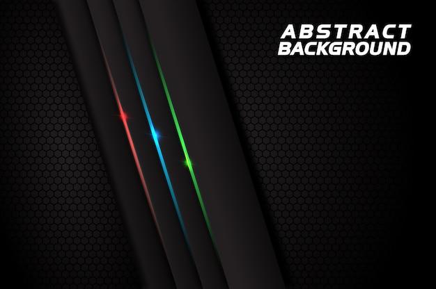 Donkere abstracte achtergrond met rode blauwgroene lijnen