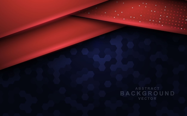 Donkere abstracte achtergrond met rode overlappende lagen