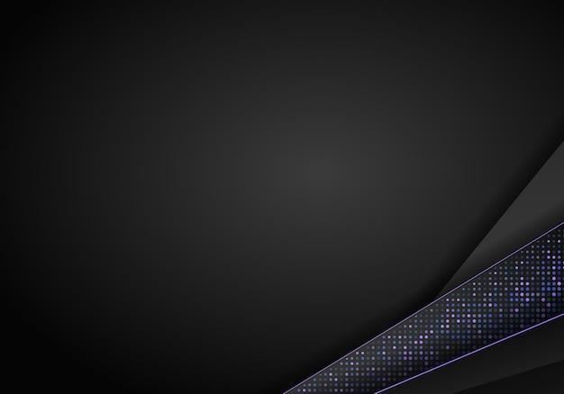Donkere abstracte achtergrond met zwarte overlappende lagen... glitters halftoon. moderne vector ontwerpsjabloon.