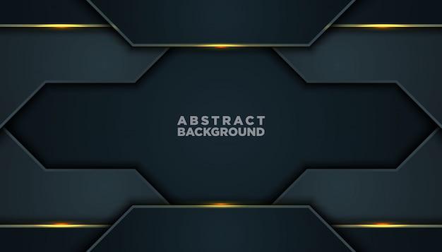 Donkere abstracte achtergrond met zwarte overlappende lagen