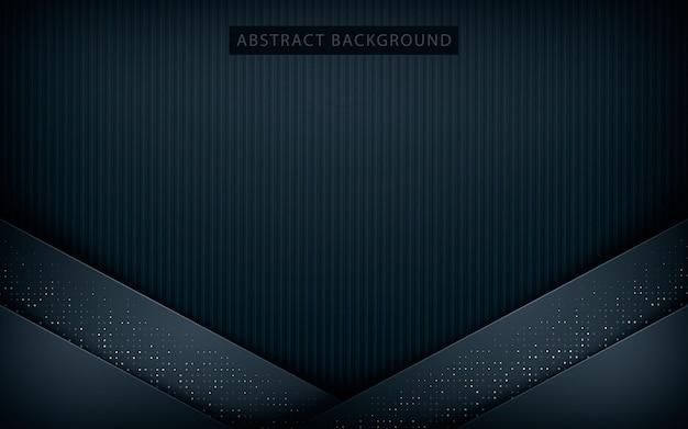 Donkere abstracte achtergrond met zwarte overlappingslagen