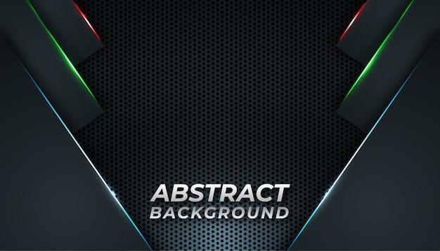Donkere abstracte backround met gloedlijnen