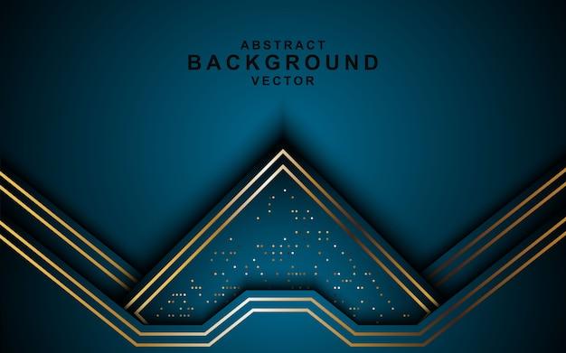 Donkere abstracte overlappende lagenachtergrond met gouden vormtextuur.