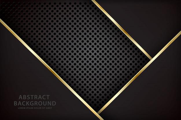 Donkere achtergrond met een zwarte overlappende combinatie van gol-strepen