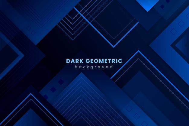 Donkere achtergrond met geometrische gradiëntvormen