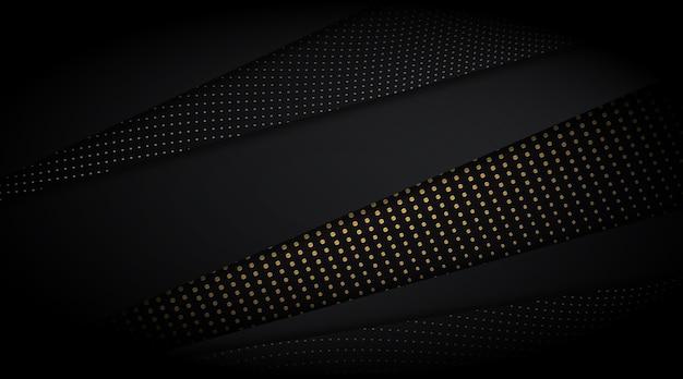 Donkere achtergrond met gouden details