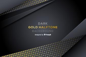 Donkere achtergrond met gouden halftone effect