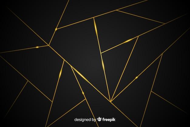 Donkere achtergrond met gouden lijnen