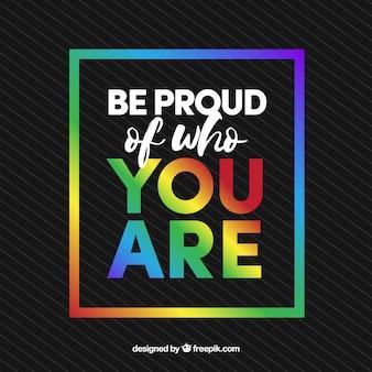 Donkere achtergrond met kleurrijk frame en inspirerend bericht