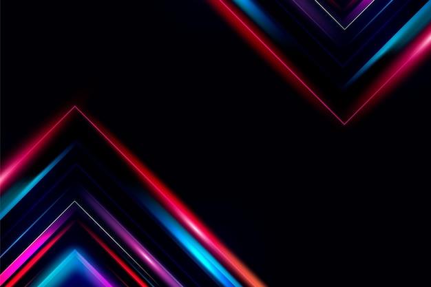 Donkere achtergrond met neonlijnen
