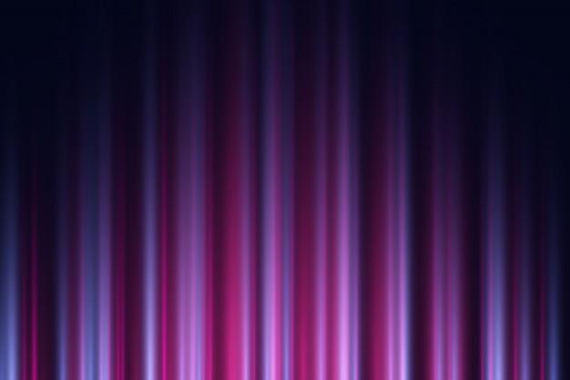 Donkere achtergrond met paarse en violette neonlichten.