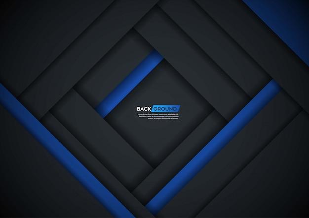 Donkere achtergrond overlappende laag met blauwe vorm