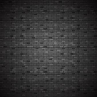 Donkere bakstenen muur