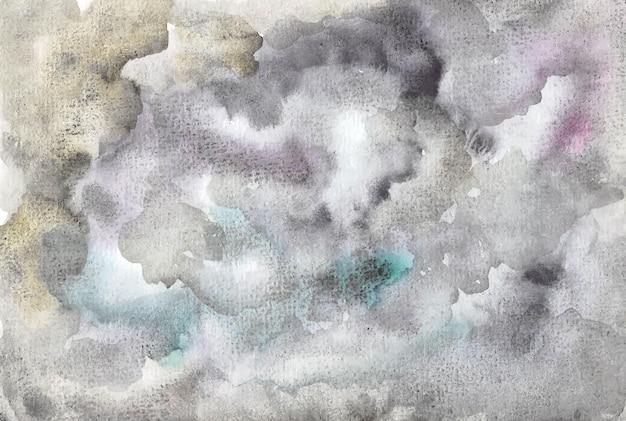 Donkere bewolkte aquarel achtergrond
