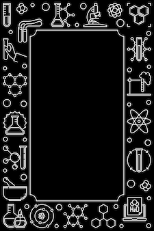 Donkere chemische verticale overzichtspictogrammen