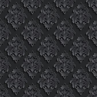 Donkere damask naadloze patroon achtergrond. elegante luxetextuur voor behang