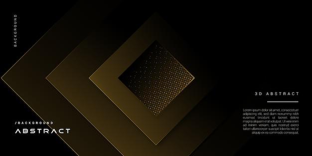 Donkere elegante gouden geometrische vormachtergrond