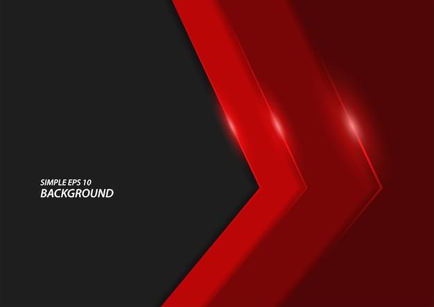 Donkere en glanzende rode lijnachtergrond, moderne elegante vectorachtergrond in eps10