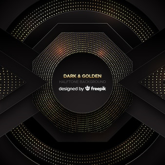 Donkere en gouden achtergrond