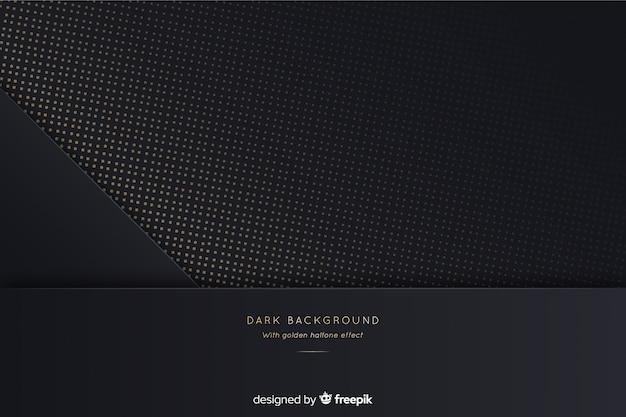 Donkere en gouden halftone achtergrond