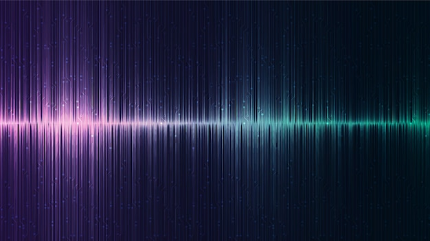 Donkere equalizer digitale geluidsgolf achtergrond