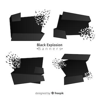 Donkere explosiebanner collectie