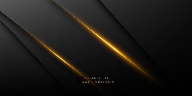 Donkere futuristische gouden lichte achtergrond