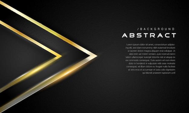 Donkere gouden elegante driehoeksachtergrond