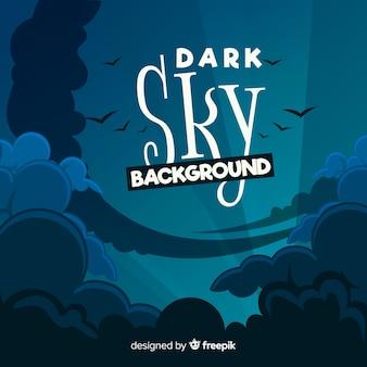 Donkere hemelachtergrond