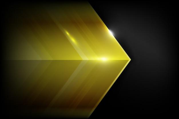 Donkere koolstofvezel en goud overlappen elkaar