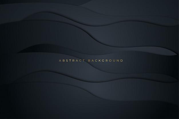 Donkere luxe horizontale vloeibare abstracte achtergrond