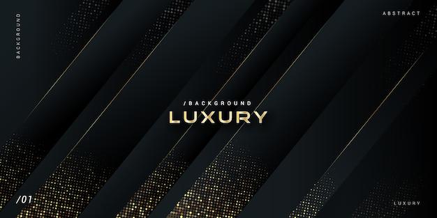 Donkere luxe moderne achtergrond met goud glitter