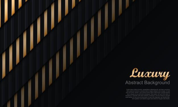 Donkere marine en gouden streeplijnen achtergrond. abstracte achtergrond. vector illustratie.