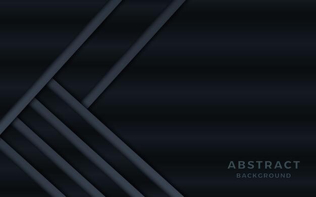Donkere metalen abstracte achtergrond met overlappende lagen.