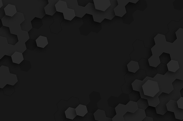 Donkere minimale zeshoeken achtergrond