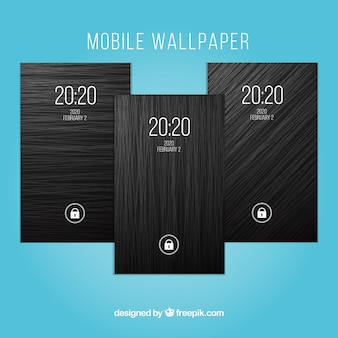 Donkere mobiele wallpapers verpakking