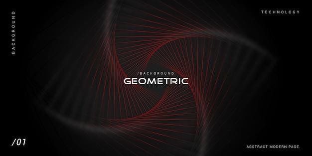 Donkere moderne geometrische technologie achtergrond