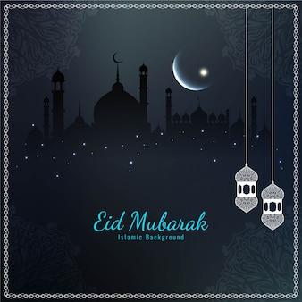 Donkere mooie religieuze eid mubarak
