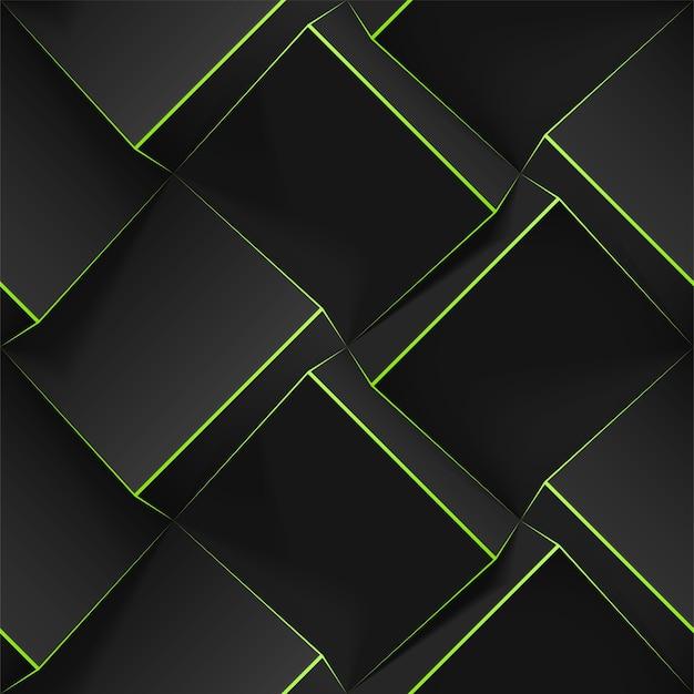Donkere naadloze geometrische patroon