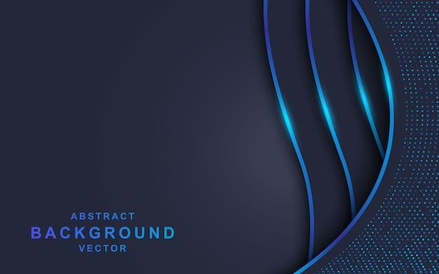 Donkere overlappingsachtergrond met blauwe lijn