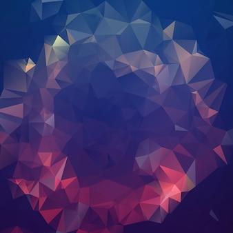 Donkere paarse veelhoekige illustratie, die uit driehoeken bestaat. geometrische achtergrond in origamistijl met gradiënt. driehoekig ontwerp voor uw bedrijf.