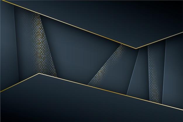 Donkere papierlagenachtergrond met gouden details