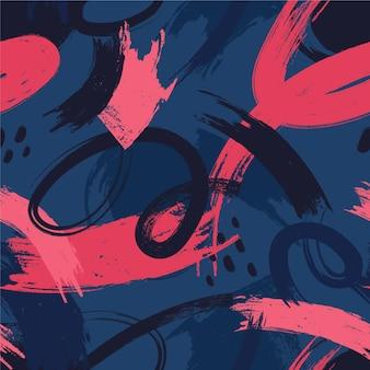 Donkere penseelstreken in verschillende kleurenpatroon