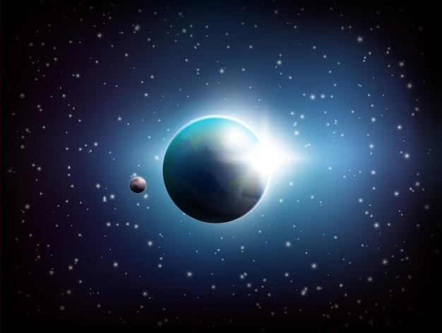 Donkere ruimteachtergrond