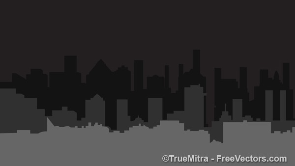 Donkere stad gebouw vormen