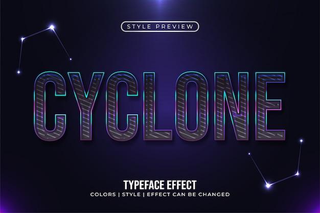 Donkere tekst met gloeiende lijnen en effect
