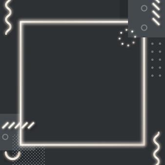 Donkere toon memphis instagram-advertentieachtergrond