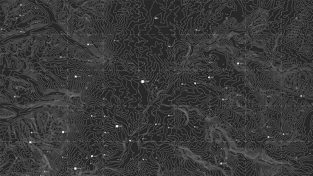 Donkere topografische kaart